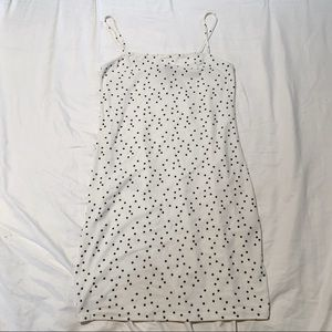 Forever 21 White Body-con Dress with Black Stars